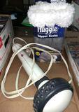 Pollenex Body Massager and As Seen on TV Huggles Slipper Socks New - Med