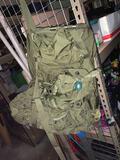 Older Military Style Back Pack On Metal Frame