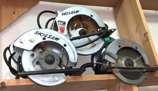 3 Skilsaws Circular Saws (Only 1 has a Blade)