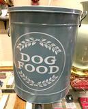 Metal Dog Food Bucket with Lid