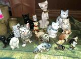 Lot of Cat Collectibles