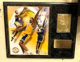 Kobe Bryant Plaque with Picture and Golden card- Numbered