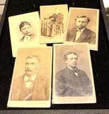 5 Antique Photos Late 1800's