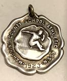 Large Sterling Silver Mahoning County School Athletic Assn. Pendant