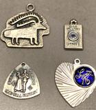 4 Sterling Silver Charms