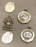 5 Sterling Silver Charms