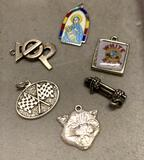 6 Sterling Silver Charms