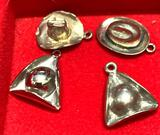 4 Sterling Silver Hat Charms
