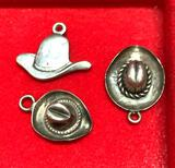 3 Sterling Silver Hat Charms
