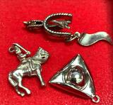 3 Sterling Silver Charms