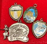 4 Sterling Silver Traveling charms