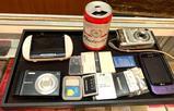 Budweiser Bluetooth Speaker, Digital Cameras, Cell Phone, Batteries etc