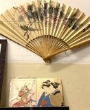 Unframed Oriental Art and Decorative Fan