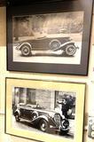 2 Vintage Framed Original Car Photos 16