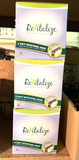 3 Boxes of Revitalize Soy Protein Shakes