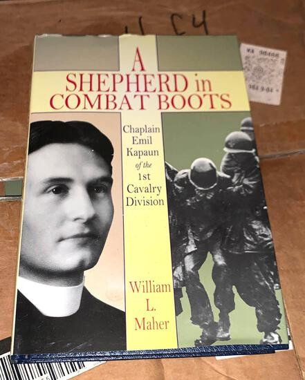 "Box full of the Book ""A Shepherd in Combat Boots"""