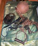 leavenworth prison Kansas Ball and Chain and San Quentin Death Row Lock and Keys