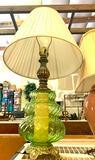Green Glass Lamp