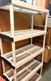 6.5' Tall Plastic Shelf