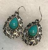 Turquoise Hook Dangle Earrings
