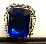 Men's Blue Sapphire Ring Size 9