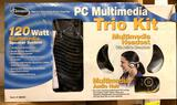 PC Multimedia Speaker system with Headphones and Microphone