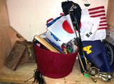 Mini Flag, Navy Banner, Patches, Vintage Tins and trophy Tops