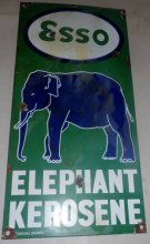 Porcelain ESSO Elephant Kerosene