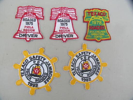 5 Texaco patches