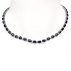14K Gold 43.10ct Sapphire 1.51ct Diamond Necklace