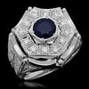 14K Gold 1.86ct Sapphire & 1.25ct Diamond Ring
