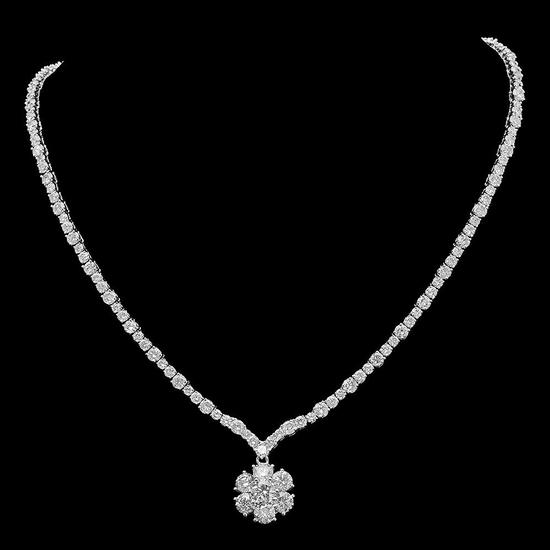 18K Gold 17.97ct Diamond Necklace