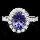14k Gold 1.71ct Tanzanite 1.06ct Diamond Ring