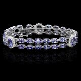 14k Gold 19ct Tanzanite 1.20ct Diamond Bracelet
