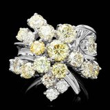14k White Gold 5.00ct Diamond Ring