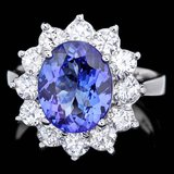 14k Gold 3.50ct Tanzanite 1.70ct Diamond Ring