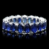 14k White Gold 10.00ct Sapphire Ring