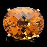 14k Yellow Gold 31.00ct Citrine Ring