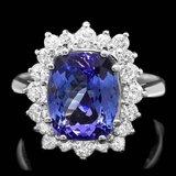 14k Gold 5.00ct Tanzanite 0.90ct Diamond Ring