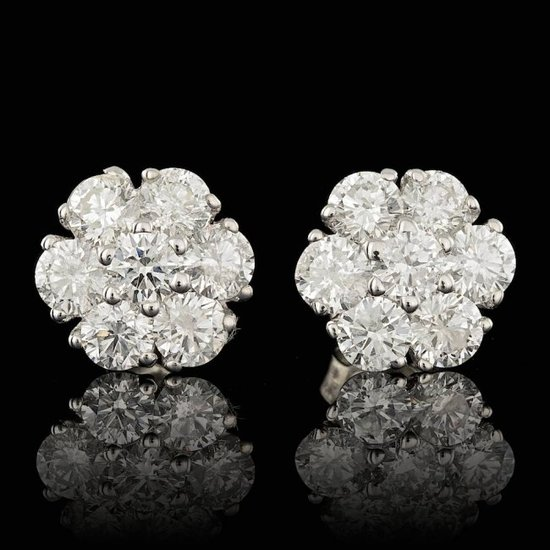 14k White Gold 2.50ct Diamond Earrings