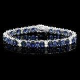 14k Gold 23ct Sapphire 1.60ct Diamond Bracelet