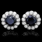 14k White Gold 5.8ct Diamond Earrings