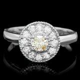 14k White Gold .67ct Diamond Ring