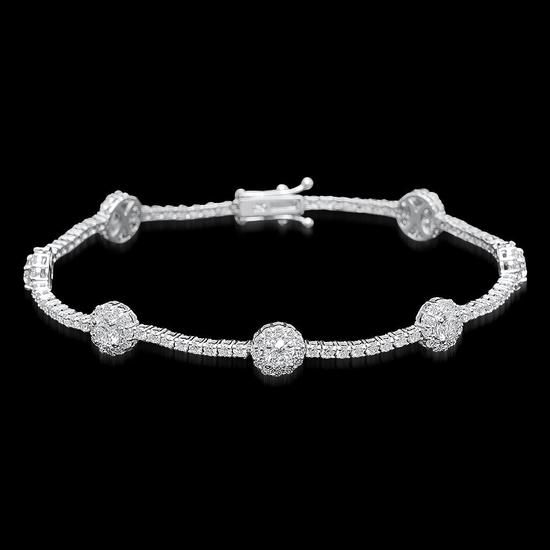 18k White Gold 5.95ct Diamond Bracelet