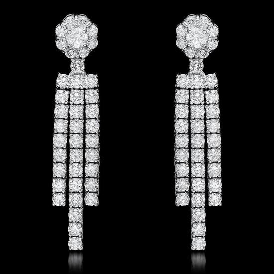18k White Gold 2.67ct Diamond Earrings