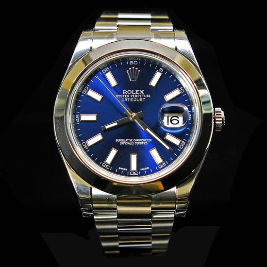 Rolex DateJust ll 41mm Blue Index Dial Men's Wristwatch