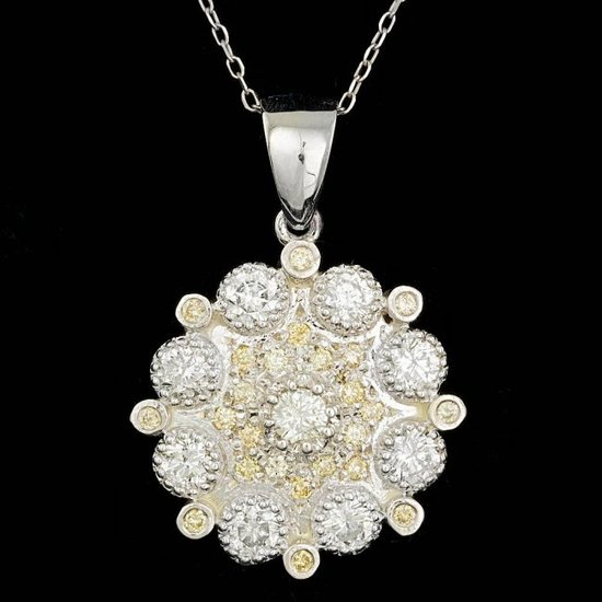 14k White Gold 2.1ct Diamond Pendant