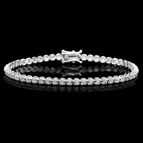 18k White Gold 2.80ct Diamond Bracelet