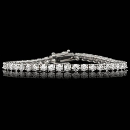 14k White Gold 7.50ct Diamond Bracelet