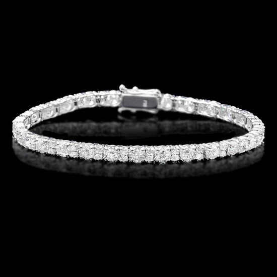 18k White Gold 8.60ct Diamond Bracelet